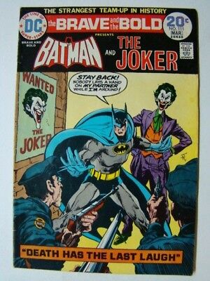 Brave and the Bold #111 Batman & The Joker Jim Aparo Art 1974 VG