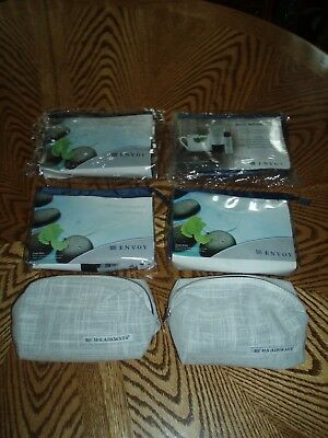 LOT OF (6) NEW U.S. AIRWAYS ENVOY CLASS AMENITY KITS - All Six Are New/Unused
