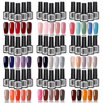 5 Bottles/set Gel Nail Polish Kit Classic Series Nail UV LED Gel Top Base Coat