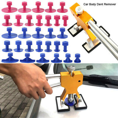Car Paintless Dent Repair Tool Dint Hail Damage Remover Puller Lifter 28 Tab Kit