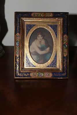 Antique Picture Frame-Hand Carved & Painted 14Kt Gold Leaf-Made In Italy