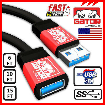 USB 3.0 Super Speed Extension Cable Male A to Female A Charger Powered Data Sync