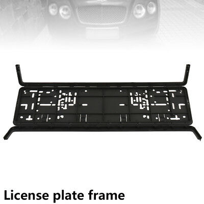 European Glossy Number Plate Holder Licence Plate Surround Frame ABS PC O2  #