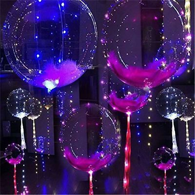 Colorful wave wave light balloon transparent LED glow in dark party decoration