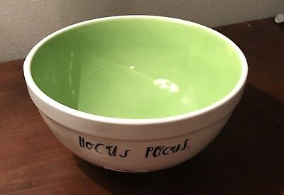 "Rae Dunn Artisan Collection By Magenta Halloween ""Hocus Pocus"" Ceramic Bowl, New"