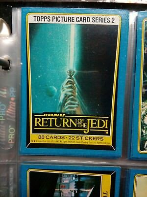 Topps 1980 Vintage *return Of The Jedi* Series 2 - Scanlen's Never Printed Set