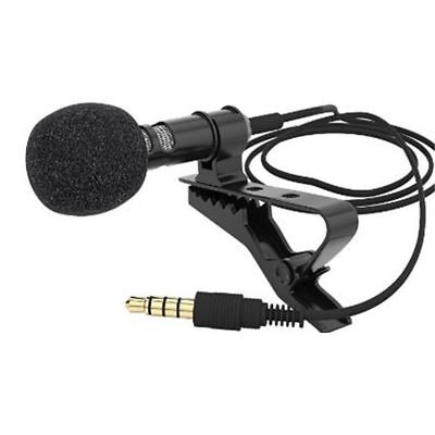 Clip-on Lapel Mini Lavalier Mic Microphone For Universal Smart Phone Recording