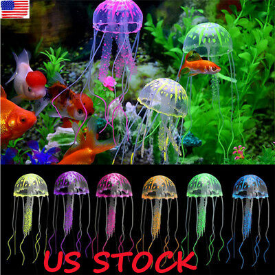 Glowing Effect Aquarium FLOATING JELLYFISH Jelly Fish Tank Ornament Decorations