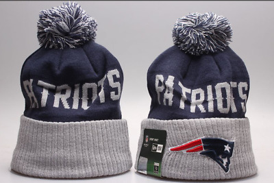 New England Patriots  Football Beanie Cap Kint Hat Pom Winter For Fans Unisex