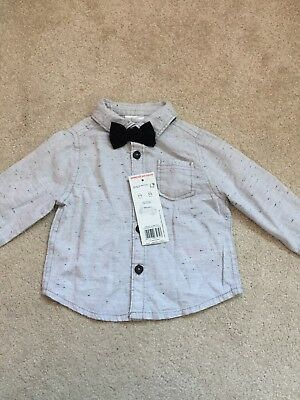 Brand New Baby Boy Shirt With Bow Tie 3-6 Months
