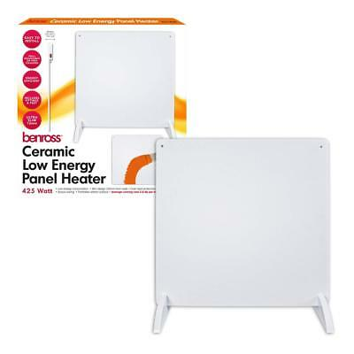 425W Slimline Wall mounted Ceramic Panel Heater Low Energy Radiator Stand Quest