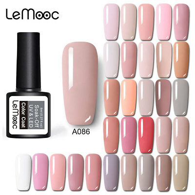 186 Classic Gel Nail Polish Soak off UV Gel Manicure Salon Party Show Nude Pink