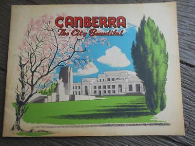 C 1950 's Canberra City Beautiful ACT Parliament House Suburbs tourist book