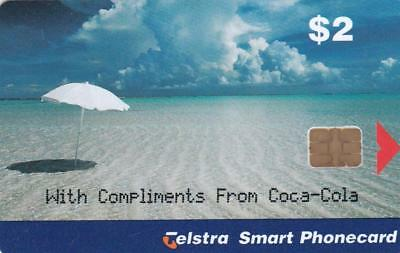 Telstra Beachscene Overprint Coca-Cola Coke Rare Rare Mint G77