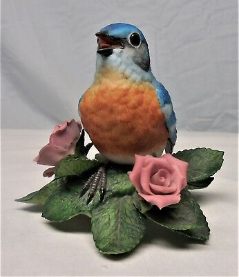 LENOX Bird Figurine EASTERN BLUEBIRD Fine Porcelain Sculpture Statue ~ SUPER