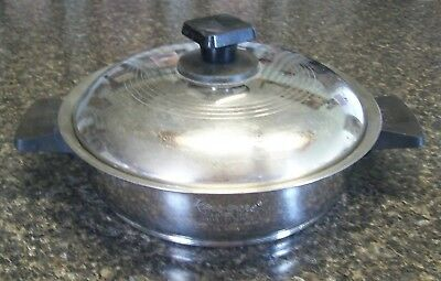 "Vtg Rena-Ware 7 1/4"" Fry/Sauce Pan With Lid 3-Ply 18-8 Stainless Steel USA"