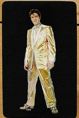 The King - Elvis Presley In Shimmering Gold Suit-  Single Swap Playing Card