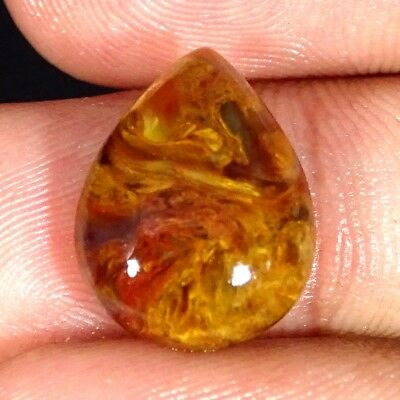7.30Cts 100% Natural Golden Pietersite Pear Cabochon Loose Gemstone