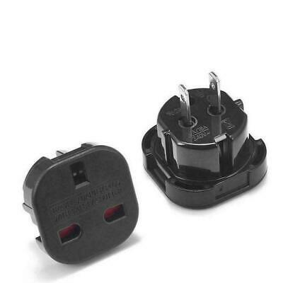 1 X Travel Adapter Black Plug Converts UK Plugs 3 Pin to 2 pin US, USA/Canada/AU