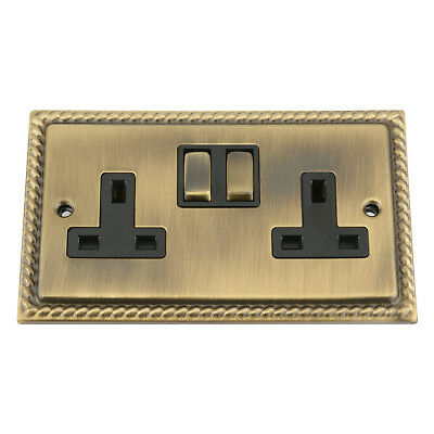 Full Range Of Georgian Antique Brass Sockets And Switches