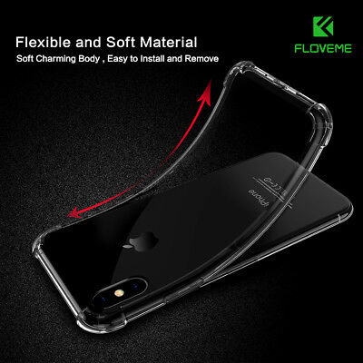 Ultra Thin Slim Transparent Shockproof Hard Back Case Cover For iPhone X 6 7 8+