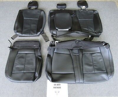 2015 - 2018 Original Ford F-150 Super Crew Rear Black Leather Seat Upholstery