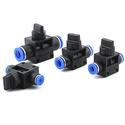 Pneumatic Ball Valve On Off Flow Push fit Quick fittings Reusable 4/6/8/10/12mm