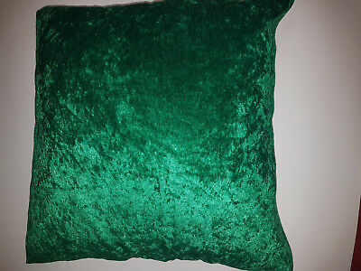 Bright Green Crushed Velvet Cushion Cover Ter Pillow Lounge14 15