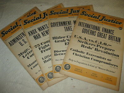 Lot 4 Issues WWII Social Justice ANTI WAR Catholic Newspapers ALL APRIL 1941