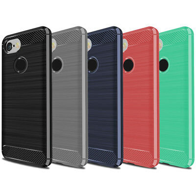 """DD Carbon Fibre For Google Pixel 3 5.5"""" TPU Rugged Gel Case Silicone Skin Cover"""