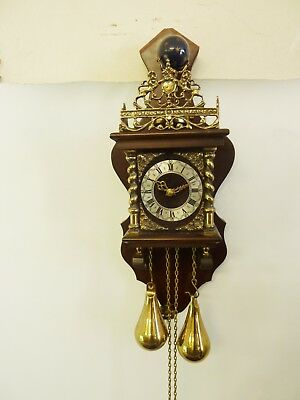 Vintage Wall Clock, Nu Elck Syn Syn, Weight Driven, Working Well            #ab#