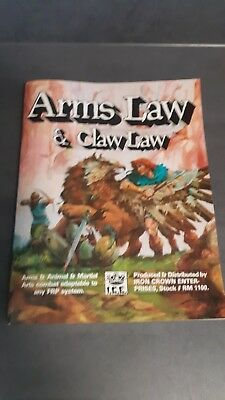 Rolemaster #1000 I.C.E. Roleplaying Rollenspiel ARMS LAW & CLAW LAW  1984