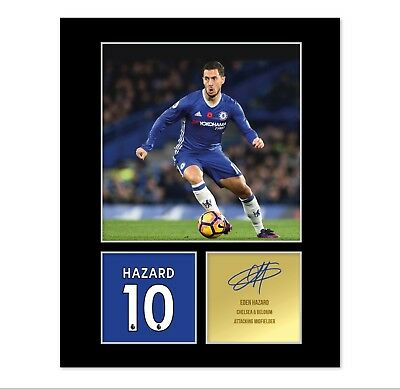 Eden Hazard Signed Photo Mount (Pre Printed Autograph) Gift For A Chelsea Fan