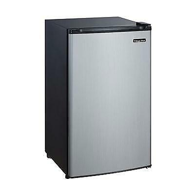 Magic Chef 2 4 Cu Compact Fridge With Freezer In Stainless Steel Ft Mcbr240s
