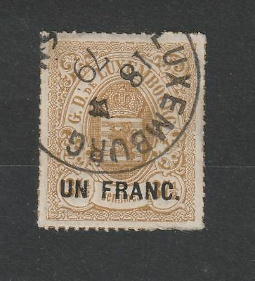 Luxembourg 1872 Min# 25 vf used Signed Richter