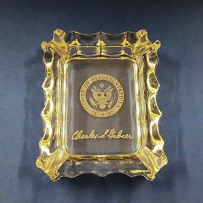 Vintage U.S. CHARLES GUBSER Congressional Ashtray 10th District California