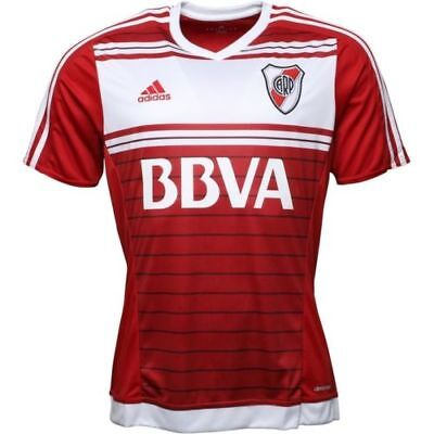 Adidas Men's River Plate 2016/17 Away Football Shirt Top Power Red All Sizes New