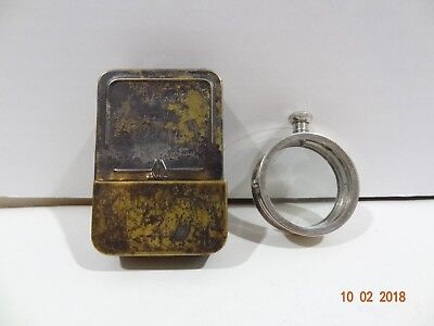 Vintage Waltham Watch Brass U0026 Stainless Double Glass Movement Storage Carry  Case
