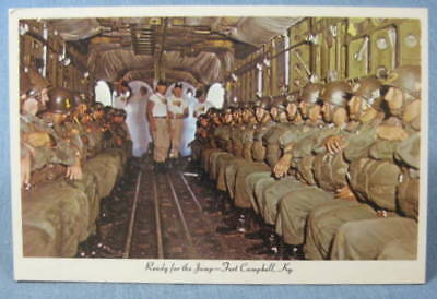 Ready For The Jump Fort Campbell KY Postcard 1950