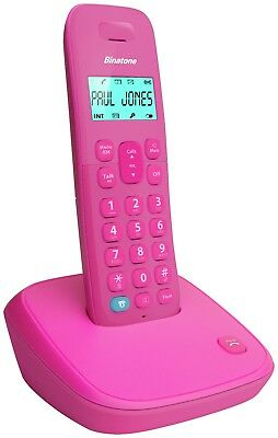 Binatone Candy Call Blocker Pink Cordless Telephone Phone Nuisance Block Single