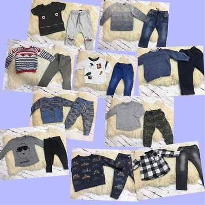 Baby Boys Winter Outfits Clothes Next Jeans Jumpers Tops Age 12-18 Months