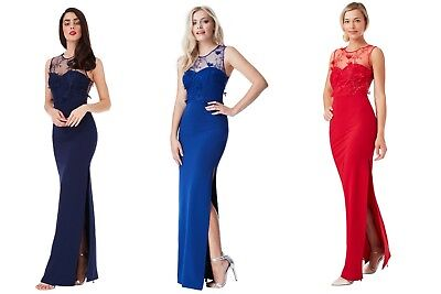 Asos Floral     Navy Blue/ Royal Blue/ Red     Embroidered Maxi Dress Rrp £38.99