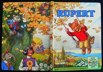 VINTAGE ORIGINAL 1961 RUPERT BEAR ANNUAL, UNSCRIBED and PRICE UNCLIPPED 5/-