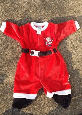 christmas santa outfit baby 3 months little me boy one piece