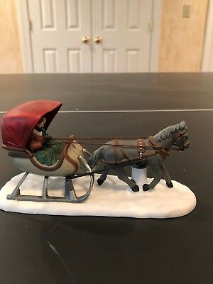 """Dept 56 Heritage Village Collection  """"One Horse Sleigh"""""""