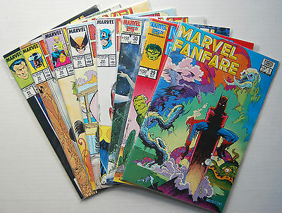 Marvel Fanfare Lot| 8 Issues From '83-'89 | Charles Vess