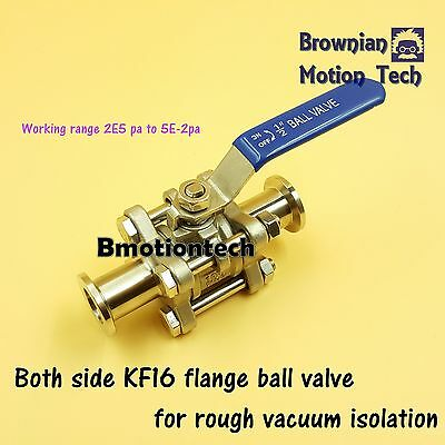 KF16 Flange Stainless steel ball valve for rough vacuum isolation pump shut off