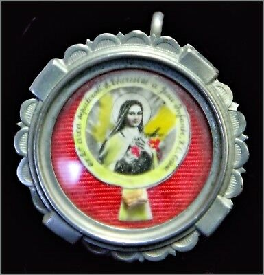 Antique  Catholic Reliquary Relic  Seal Saint Theresia