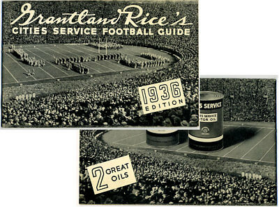 1936 Cities Service Grantland Rice's Football Guide
