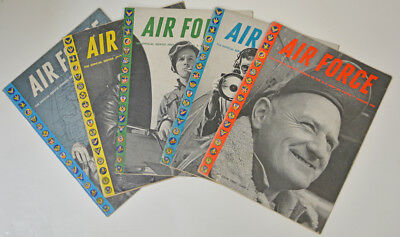 Air Force Magazine Wwii Offical Journal Of The Army Air Forces 5 Issues 1945